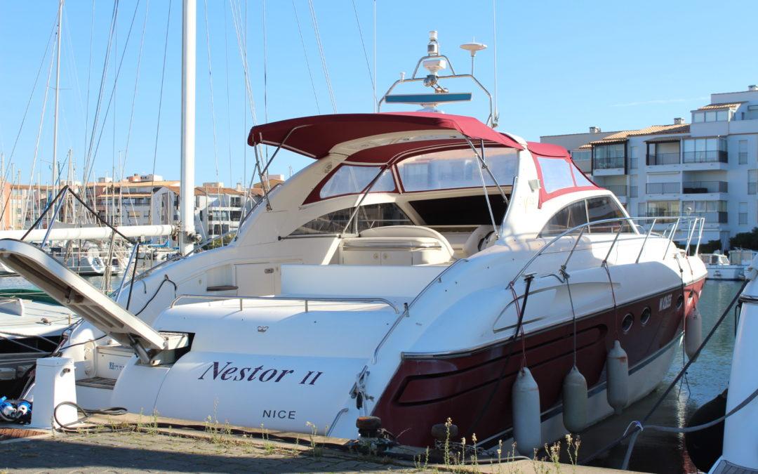 2 bateaux Princess V52 et Jeanneau Prestige 34 après procédures judiciaires
